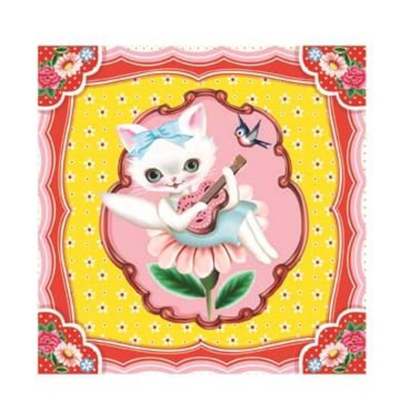 DJECO Smykkeskrin Cat song Gul 2