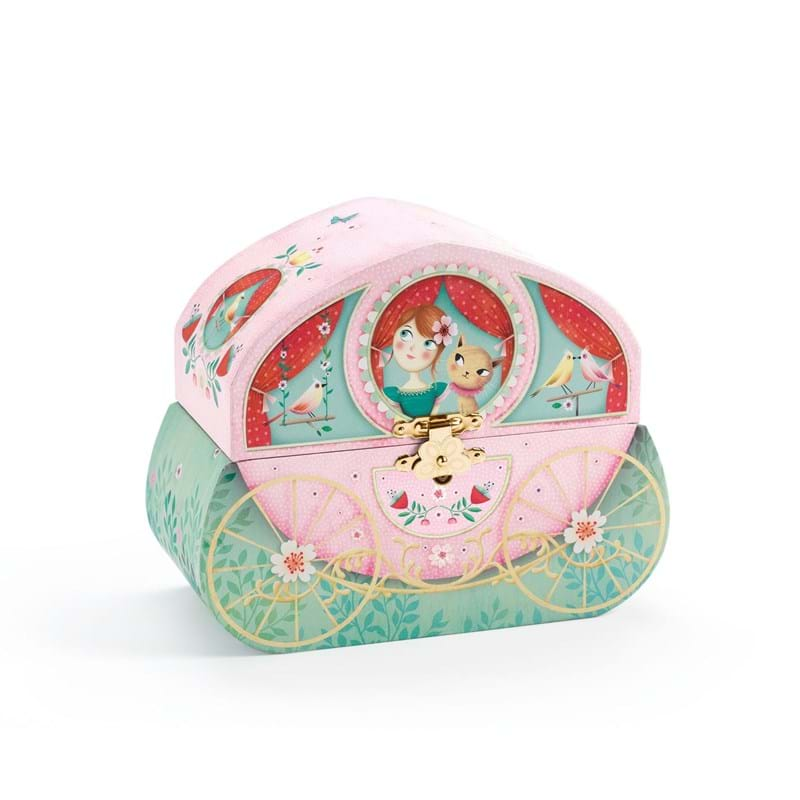 DJECO Smykkeskrin Carriage ride Rosa/mint 1