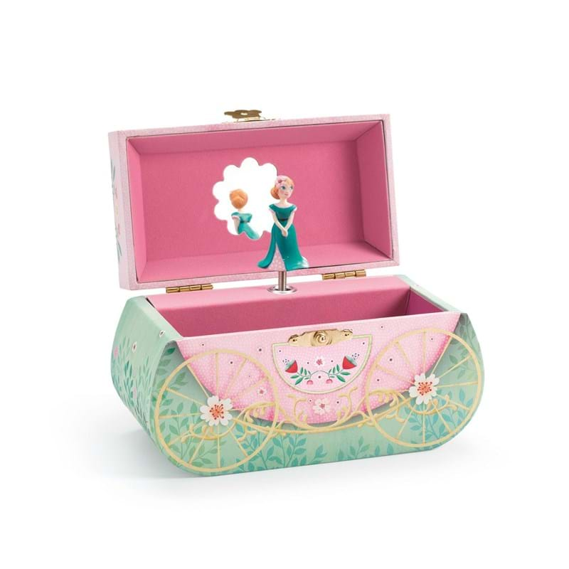 DJECO Smykkeskrin Carriage ride Rosa/mint 2