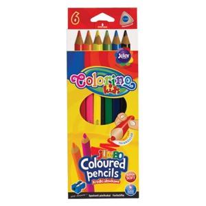 Colorino Blyanter trekantede Jumbo/6 Ass farver