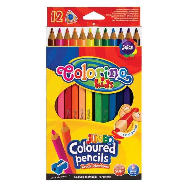 Colorino Blyanter trekantede Jumbo/12 Ass farver 1