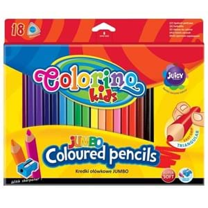 Colorino Blyanter trekantede Jumbo/18 Ass farver