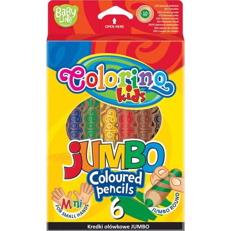 Colorino Blyanter runde Extra Jumbo /6 Ass farver 1