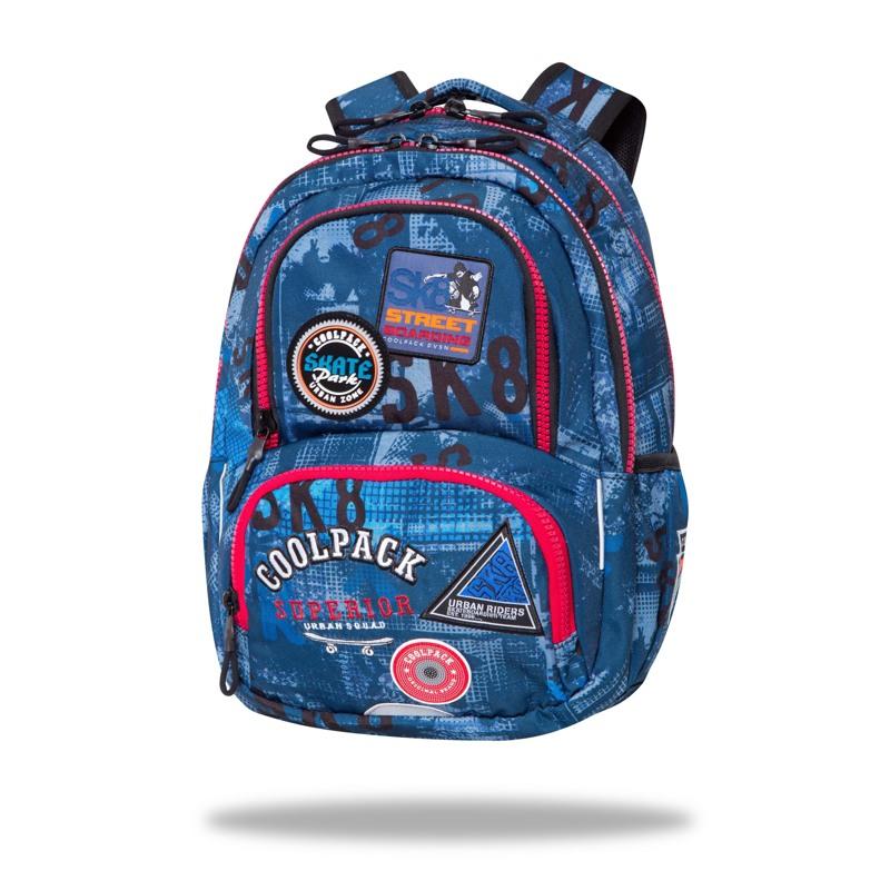Coolpack Skoletaske Spinner Badges Blå 1