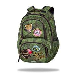 Coolpack Skoletaske Spinner Badges Oliven