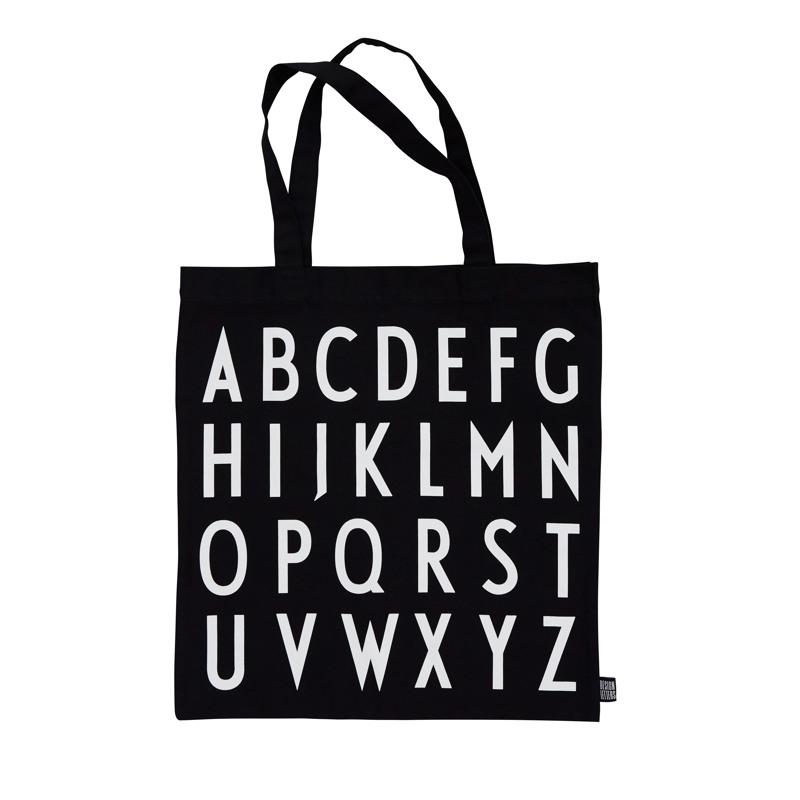 Design Letters Totebag Sort m/hvide bogstaver 1