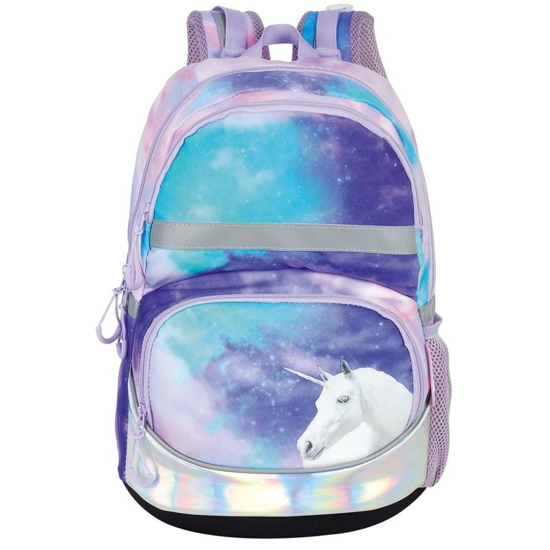 Yougo Skoletaske Unicorn Lilla 1