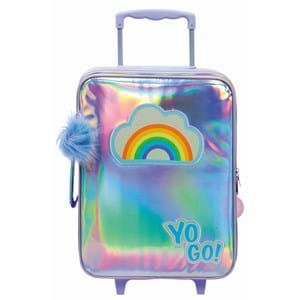 Yougo Børnekuffert Rainbow L Sølv
