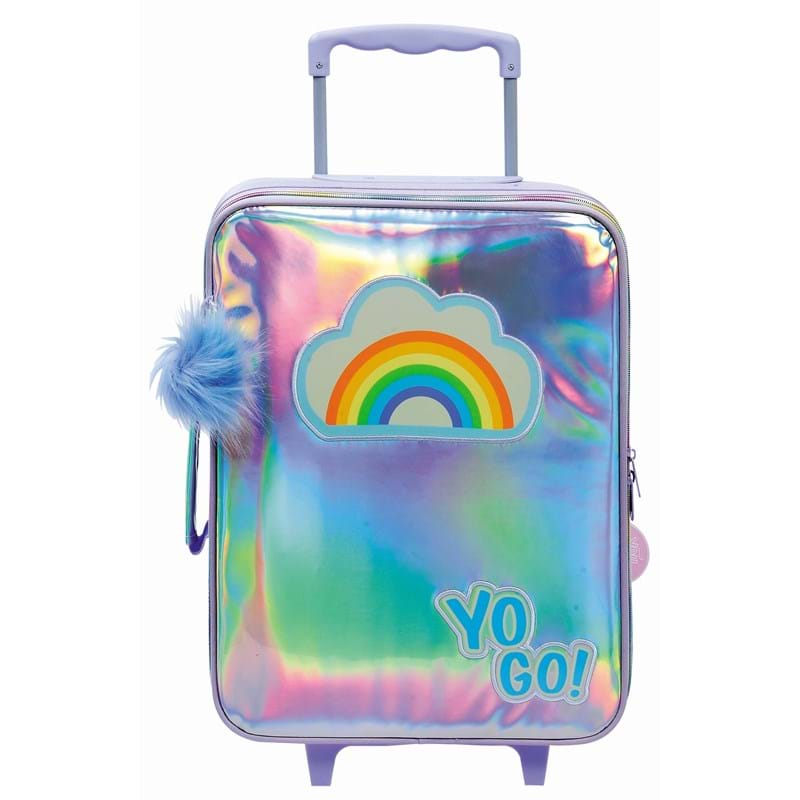 Yougo Børnekuffert Rainbow L Sølv 1