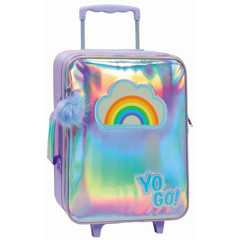 Yougo Børnekuffert Rainbow L Sølv 2
