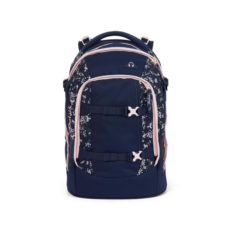 Satch Skoletaske Pack Blå m/blomst 1