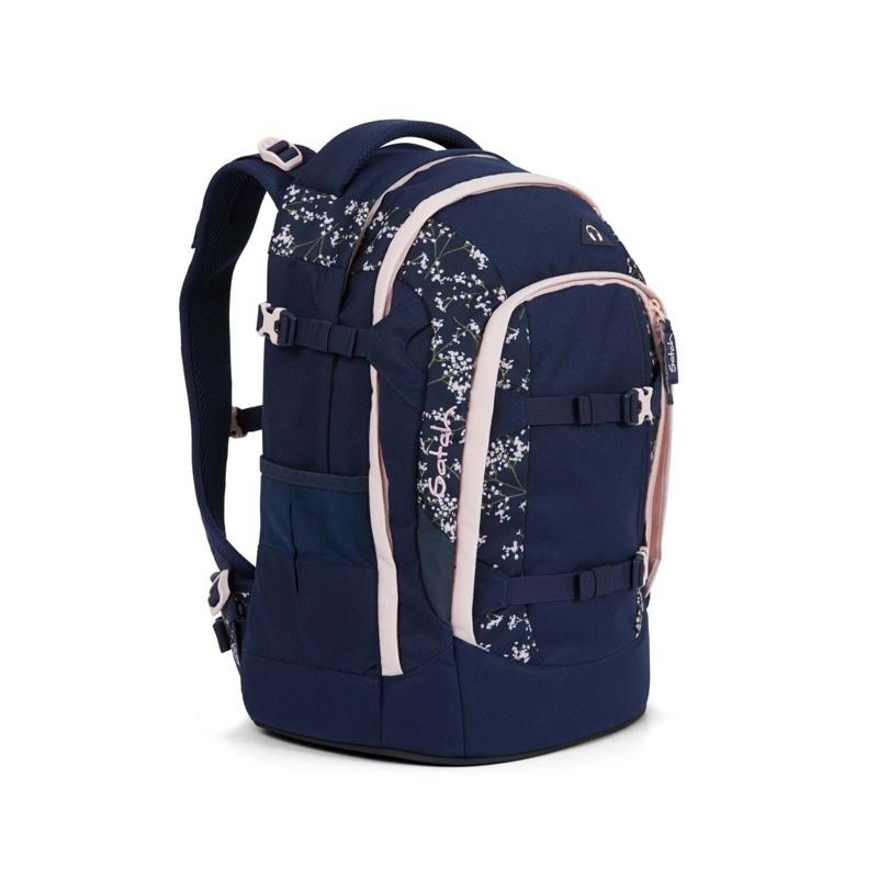 Satch Skoletaske Pack Blå m/blomst 2
