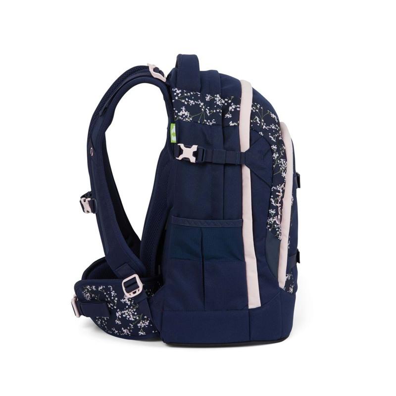 Satch Skoletaske Pack Blå m/blomst 3