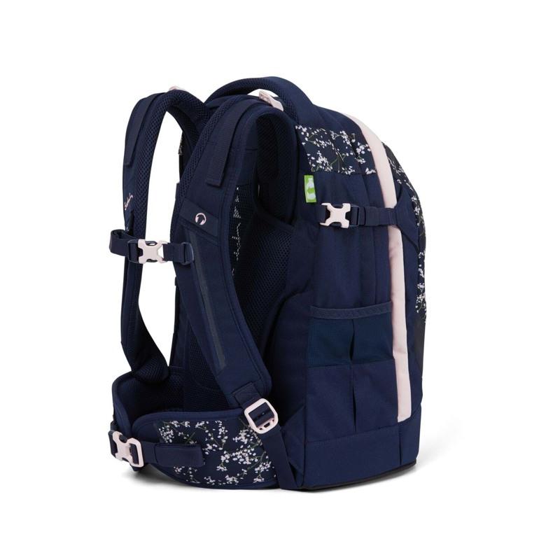 Satch Skoletaske Pack Blå m/blomst 4