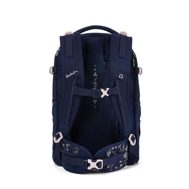 Satch Skoletaske Pack Blå m/blomst 5