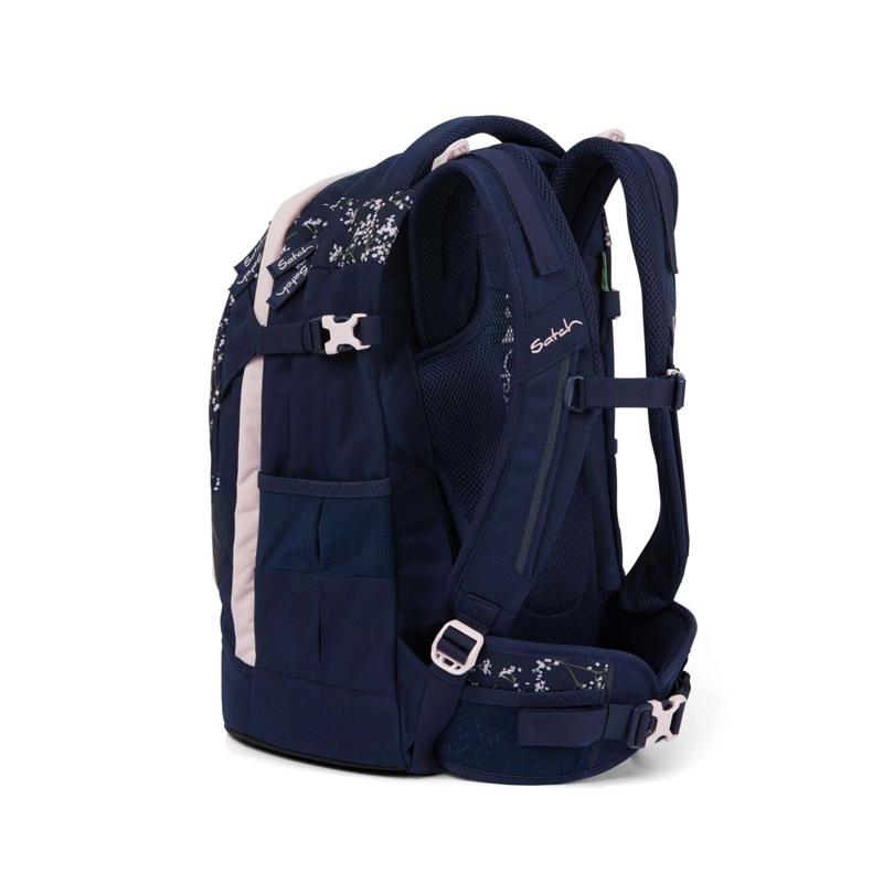Satch Skoletaske Pack Blå m/blomst 6