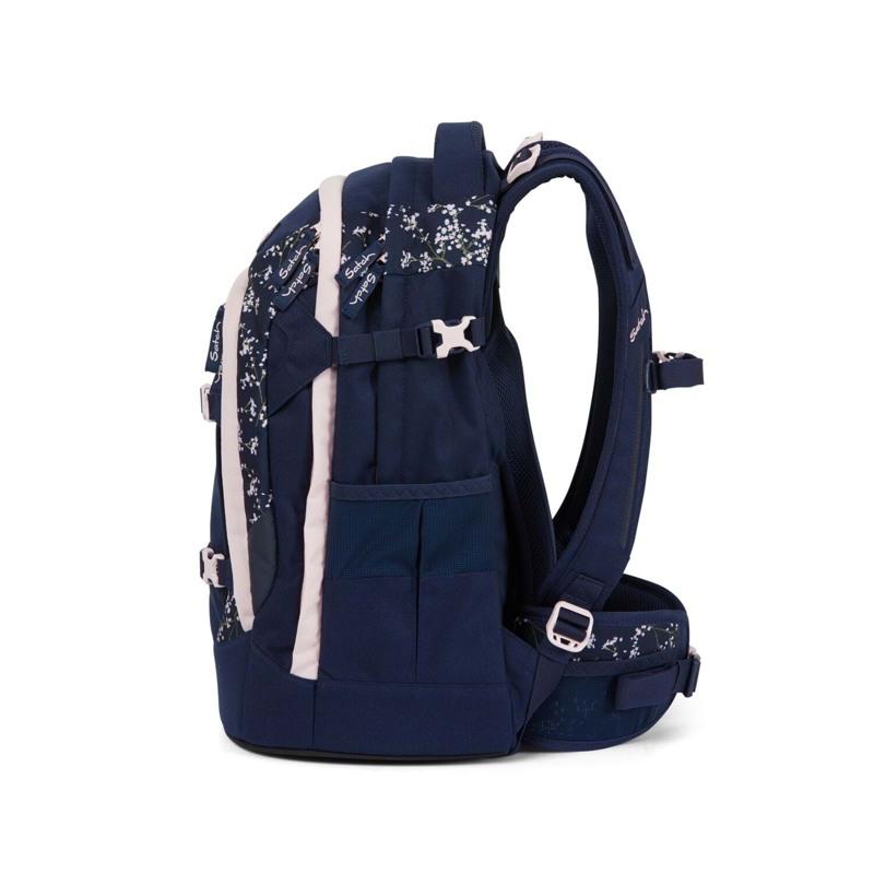 Satch Skoletaske Pack Blå m/blomst 7
