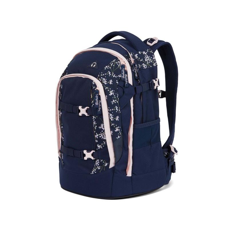 Satch Skoletaske Pack Blå m/blomst 8
