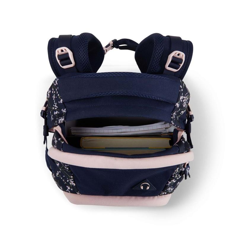 Satch Skoletaske Pack Blå m/blomst 9