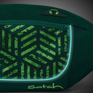 Satch Bæltetaske Cross Grøn mønster 4