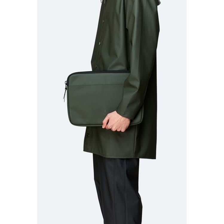 Rains Sleeve Laptop Case Grøn 4