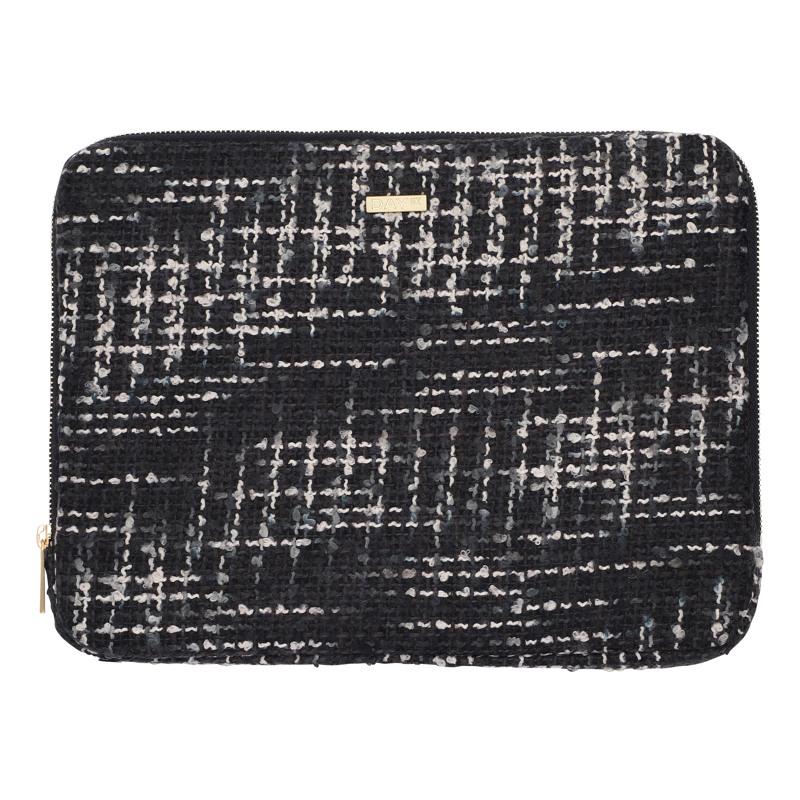 Day et Computer Sleeve Day G Tweed Sort/hvid mønster 1