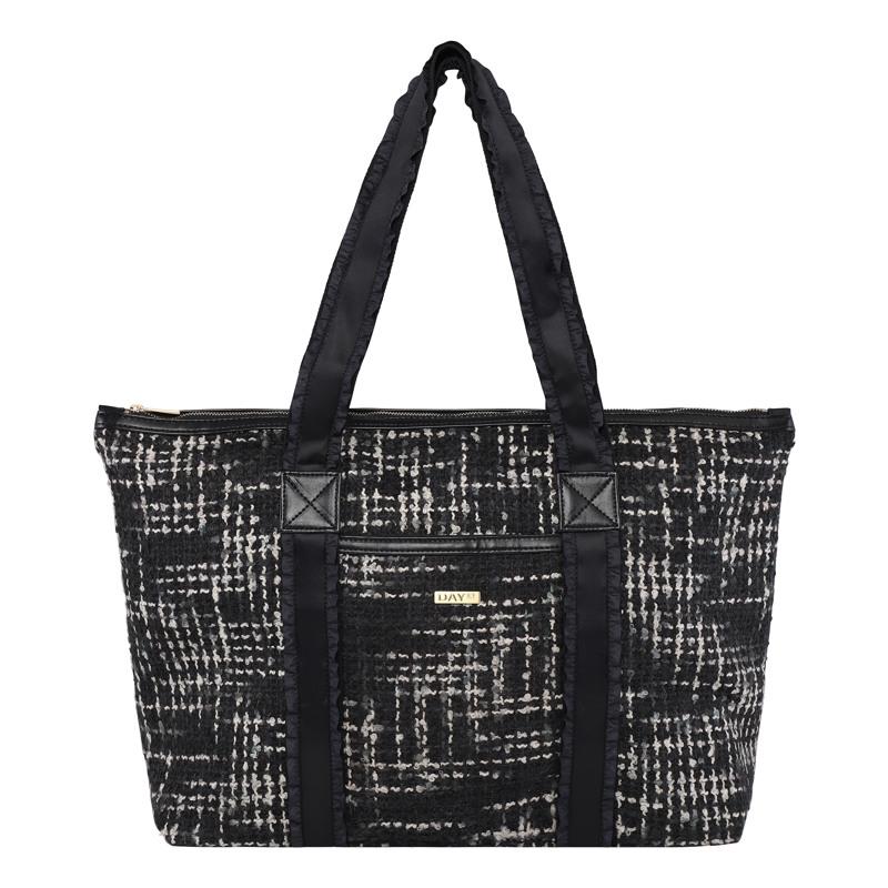 Day et Shopper Day G Tweed Work Sort/hvid mønster 1