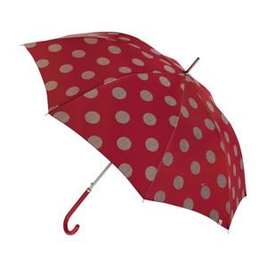 M&P Paraply lang automatisk Rød/m prikker