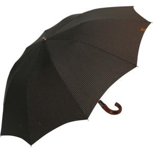 M&P Paraply kort automatisk Brun/sort strib