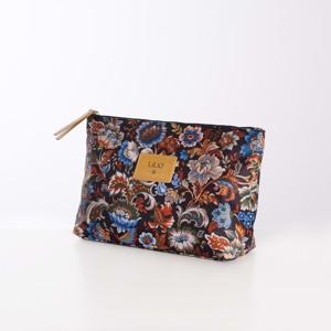 Lilió Toilettaske Cosmetic Bag L Brunt mønster alt image