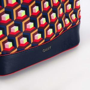 Oilily Crossbody Bucket bag Blå/mønster 3