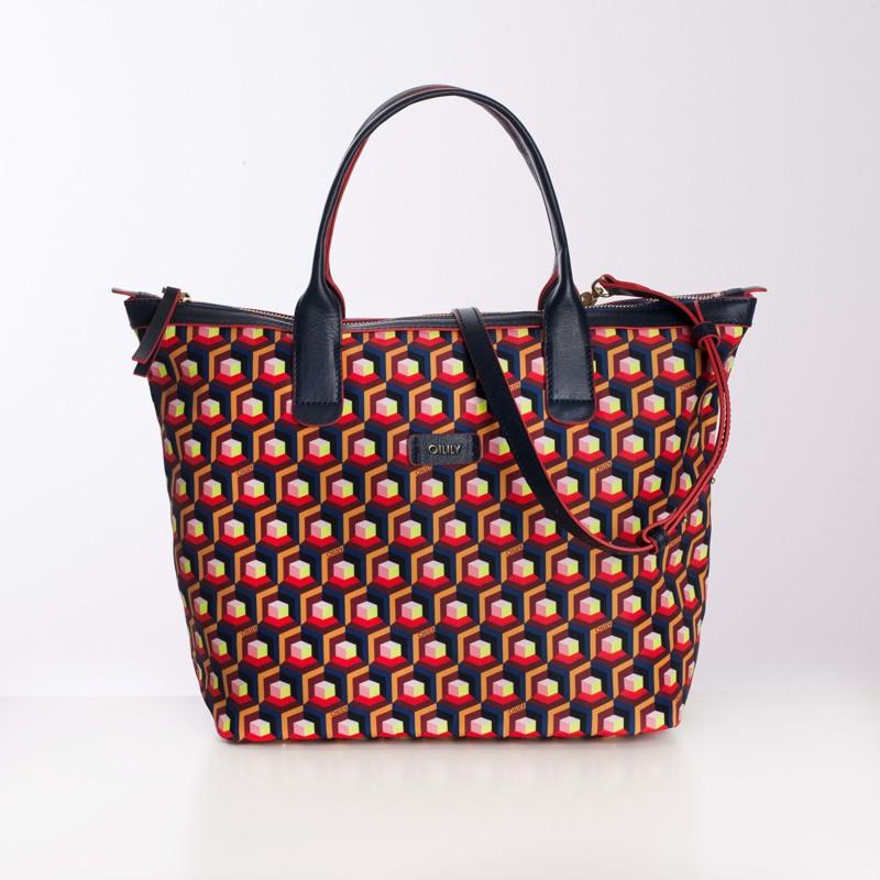 Oilily Shopper Blå/mønster 1