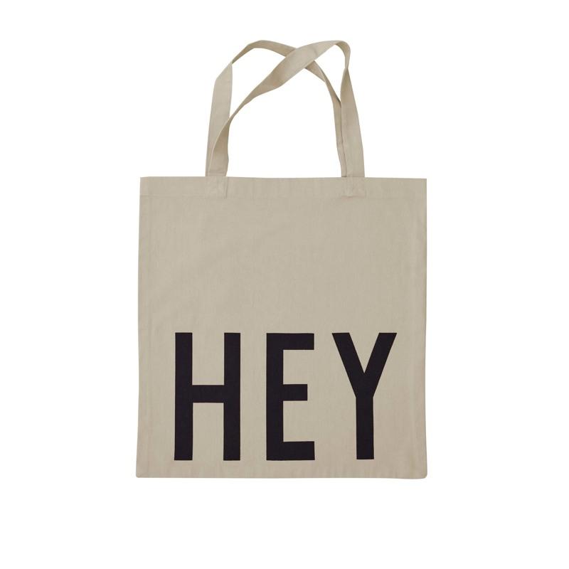 Design Letters Totebag Hey Beige 1
