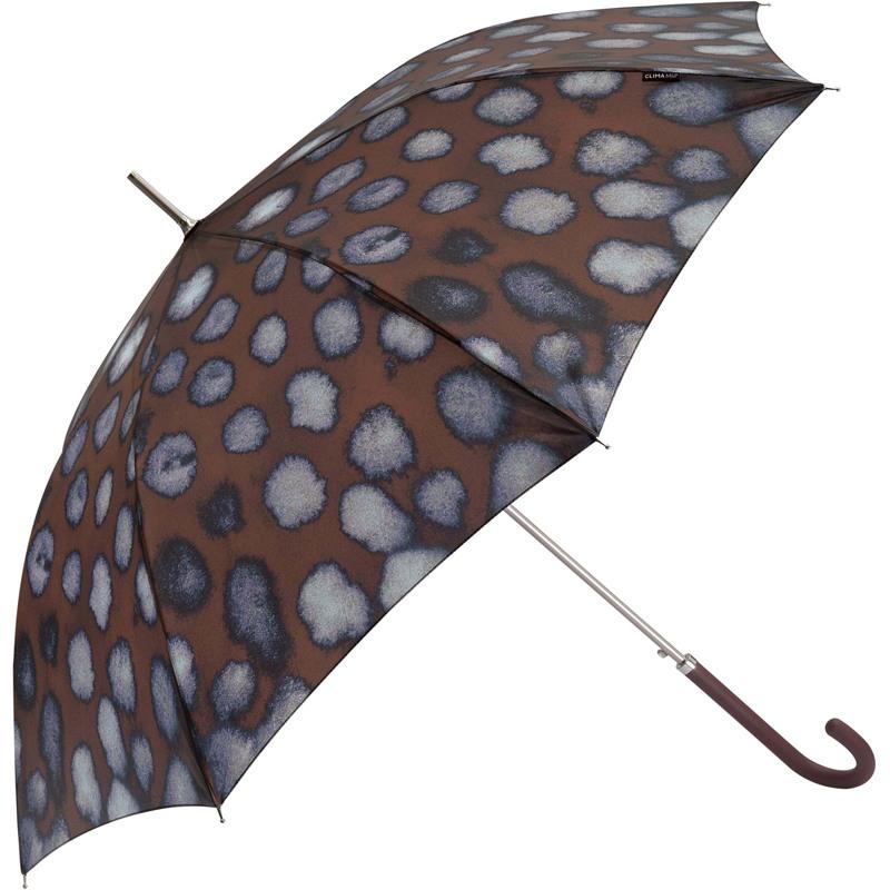 M&P Paraply lang automatisk Brunt mønster 1