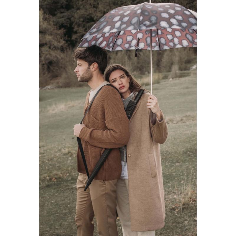 M&P Paraply lang automatisk Brunt mønster 3