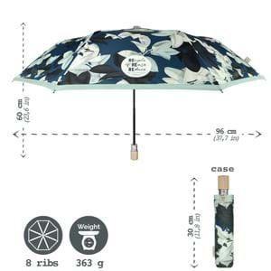 Hoffmann Paraply kort automatisk Blomst alt image