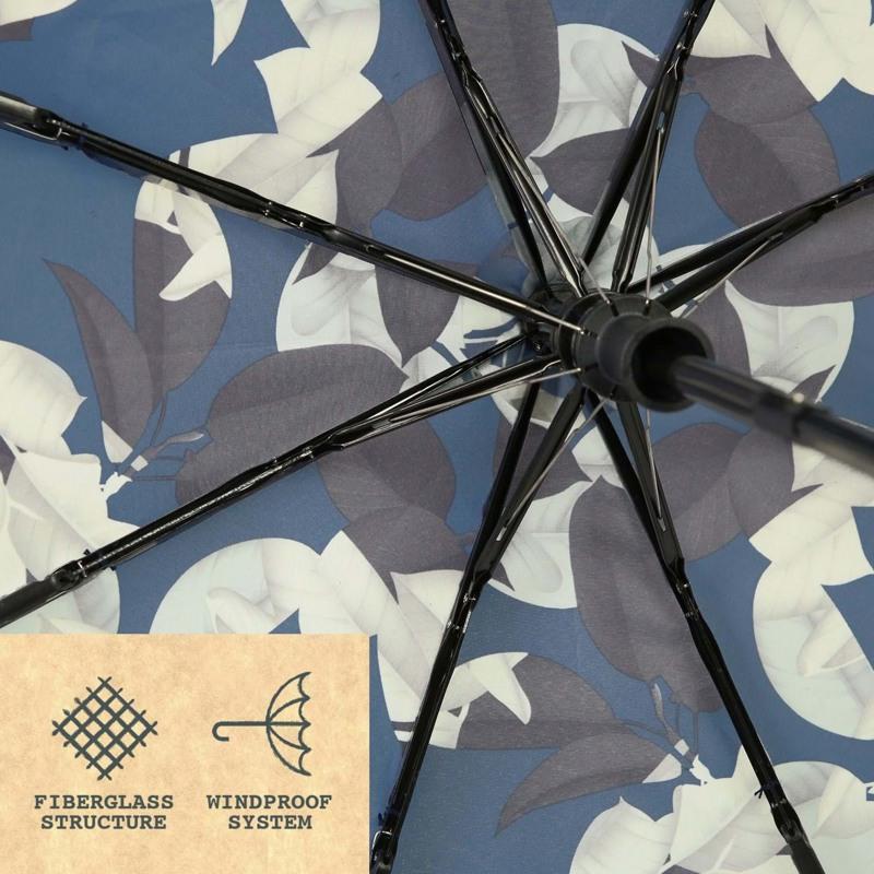 Hoffmann Paraply kort automatisk Blomst 2