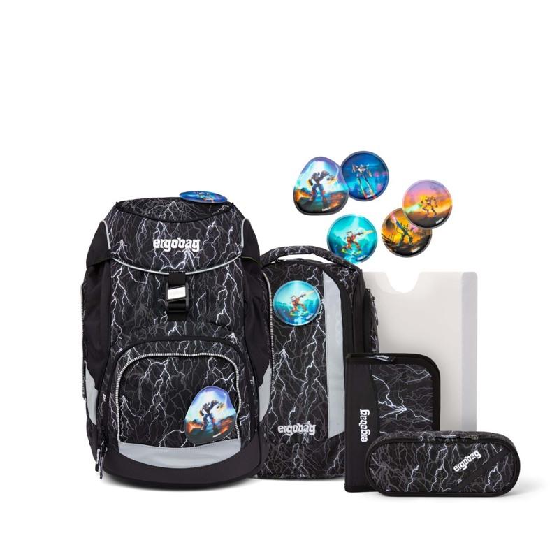 Ergobag Skoletaske Pack Reflex-Edition Sort m/strib 1
