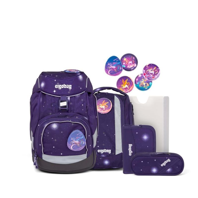 Ergobag Skoletaskesæt Pack Galaxy Glow Lilla 1