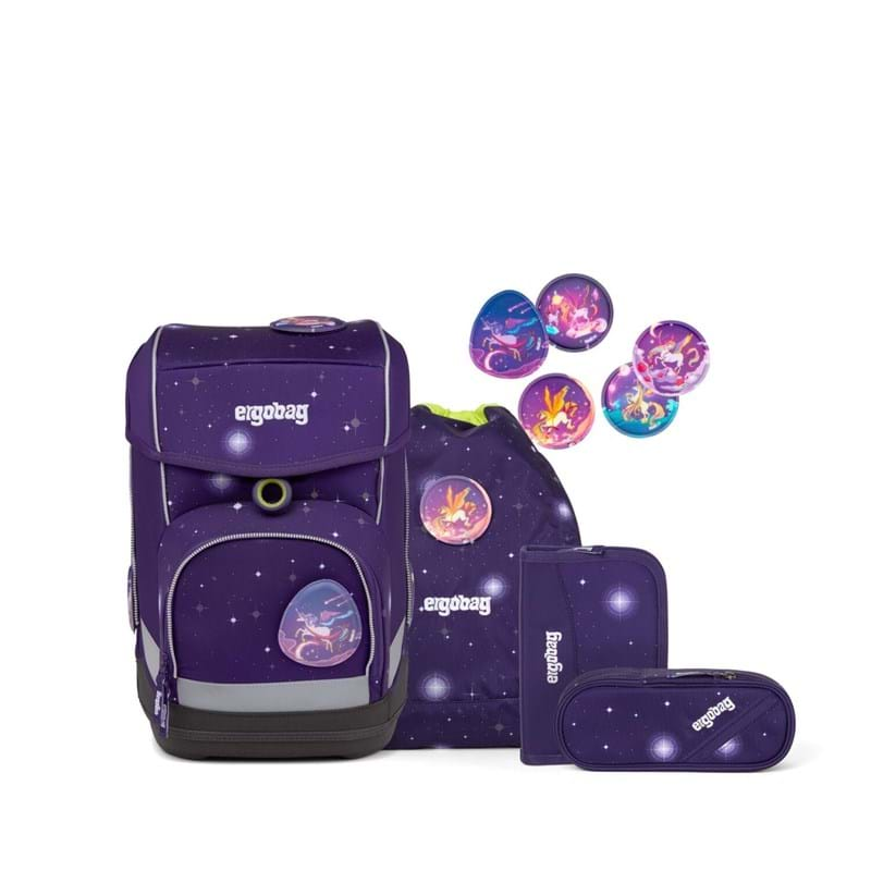 Ergobag Skoletaskesæt Cubo Galaxy Glow Lilla 1