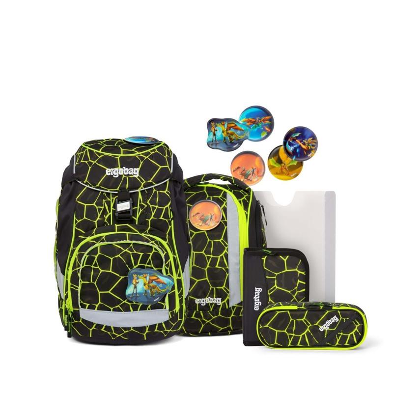 Ergobag Skoletaske Pack Lumi Edition Sort/Gul 1