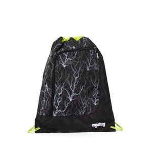 Ergobag Gymnastikpose Prime Reflex Glo Sort m/strib