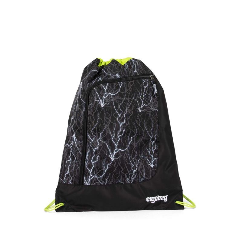 Ergobag Gymnastikpose Prime Reflex Glo Sort m/strib 1