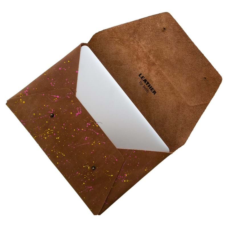 Leather by Beth MacBook Pro Air Sleeve Brun 2