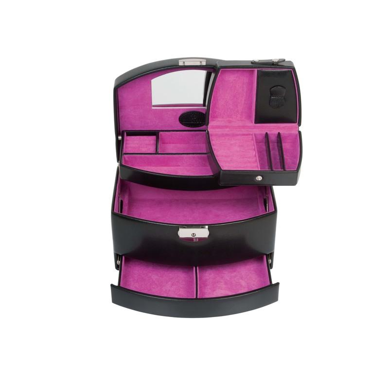 Windrose Smykkeskrin Sort/pink 2