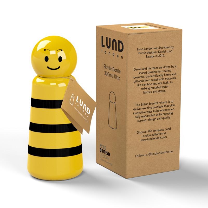 Lund London Termoflasker Mini Sort/Gul 2
