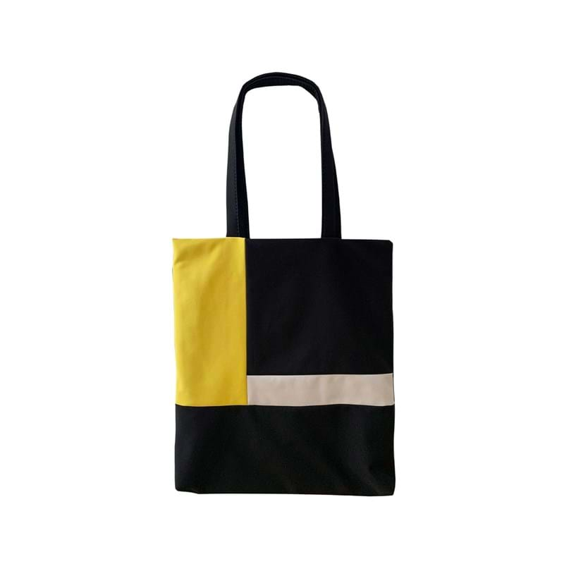 A New Story Totebag Bauhaus Sort/Gul 1