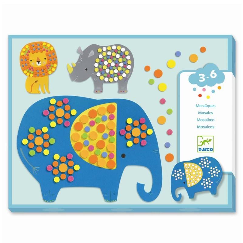 DJECO Mosaik Jungle dyr Multi 1