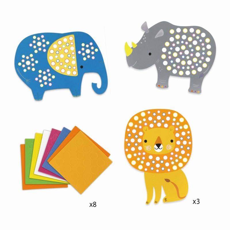 DJECO Mosaik Jungle dyr Multi 3