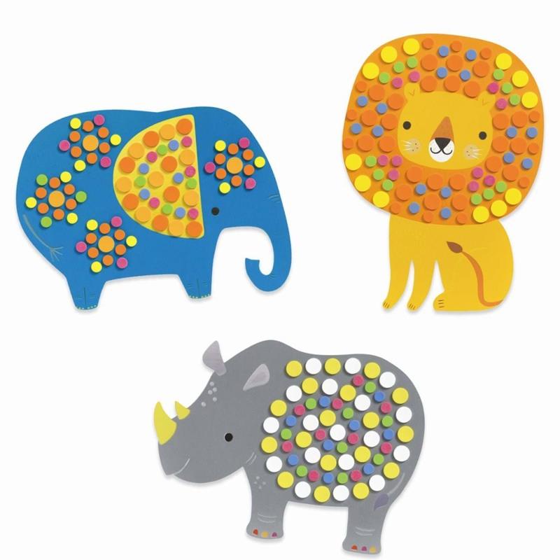 DJECO Mosaik Jungle dyr Multi 4